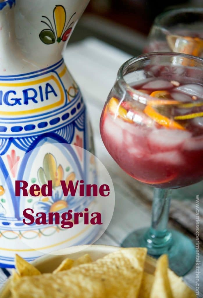 Red wine sangria carrie s experimental kitchen for Sangria recipe red wine triple sec
