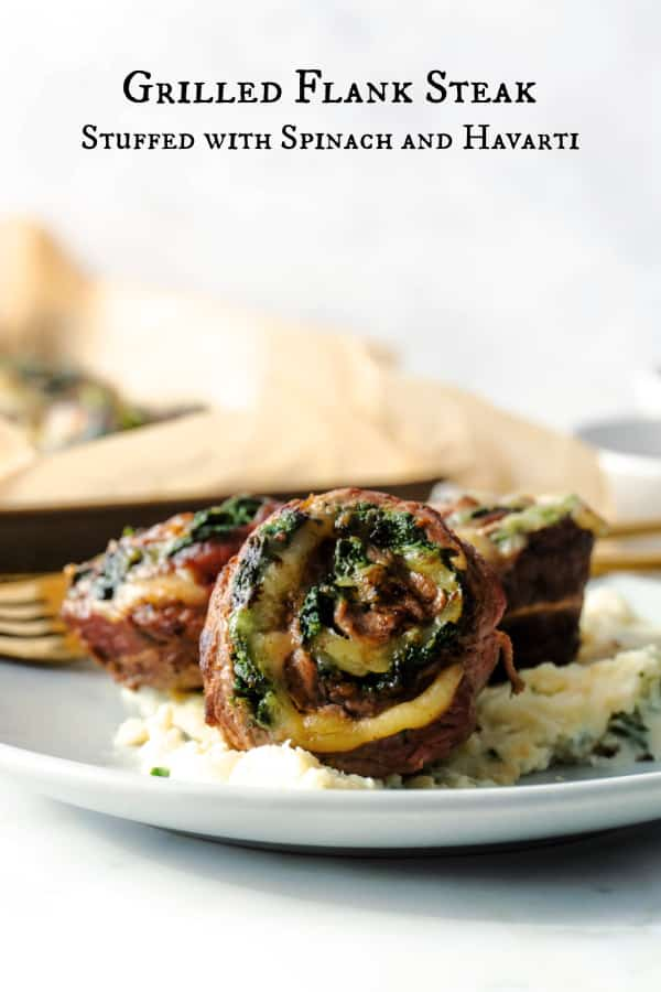 Flank Steak stuffed with spinach