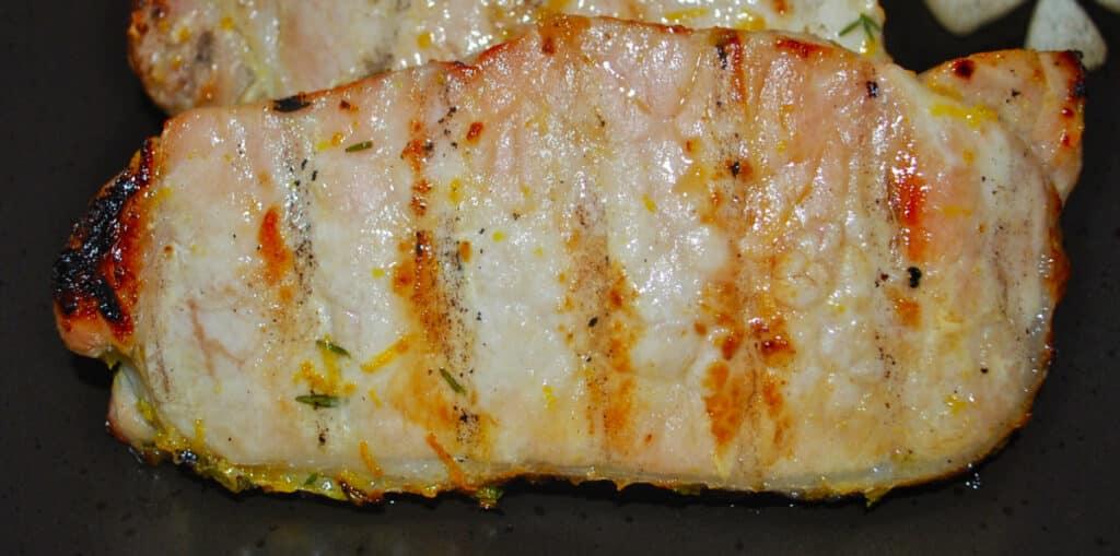 Orange Thyme Grilled Pork Chops