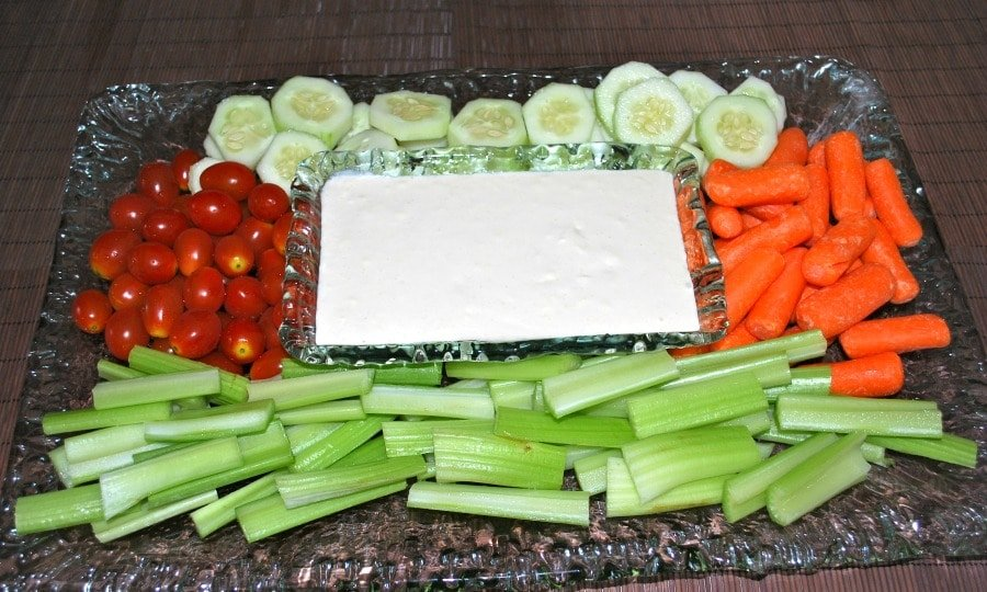 Crudite with Garlic & Cheese Dip