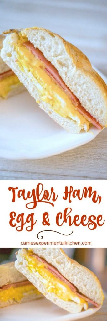 Taylor Ham, Egg and Cheese on a Hard Roll is the quintessential New Jersey breakfast sandwich. When ordering, don't forget to let them know if you want them to add salt, pepper and ketchup!