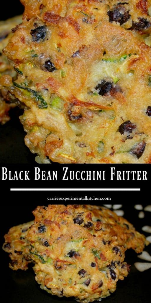 Black beans and freshly grated zucchini combined with garlic, basil and lemon zest into a tasty fritter make a delicious side dish with any meal.