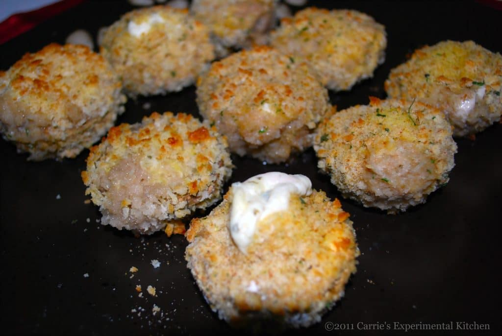 Garlic & Herb Cheese Stuffed Mushrooms