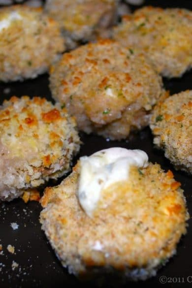 Garlic & Herb Cheese Stuffed Mushrooms