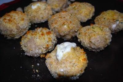 Garlic Herb Stuffed Mushrooms