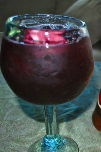 Red Apple Sangria in glass