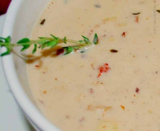 Caramelized Bacon & Onion Clam Chowder | CarriesExperimentalKitchen.com