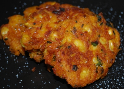 Chick Pea, Pumpkin & Cilantro Fritters