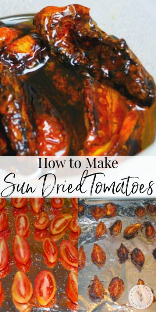 Making homemade sun dried tomatoes is a great way to utilize those vegetable bounties; then store them in EVOO to use in recipes for months.