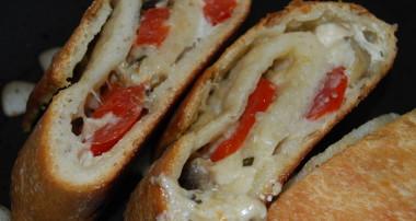 appetizers bread mushroom tomato goat cheese stuffed bread it was