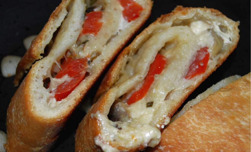Mushroom, Tomato and Goat Cheese Stromboli