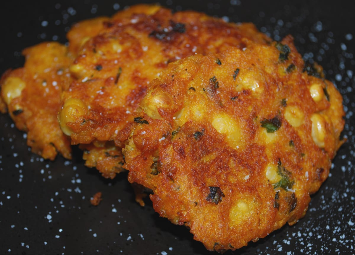 Pumpkin Chick Pea Fritters