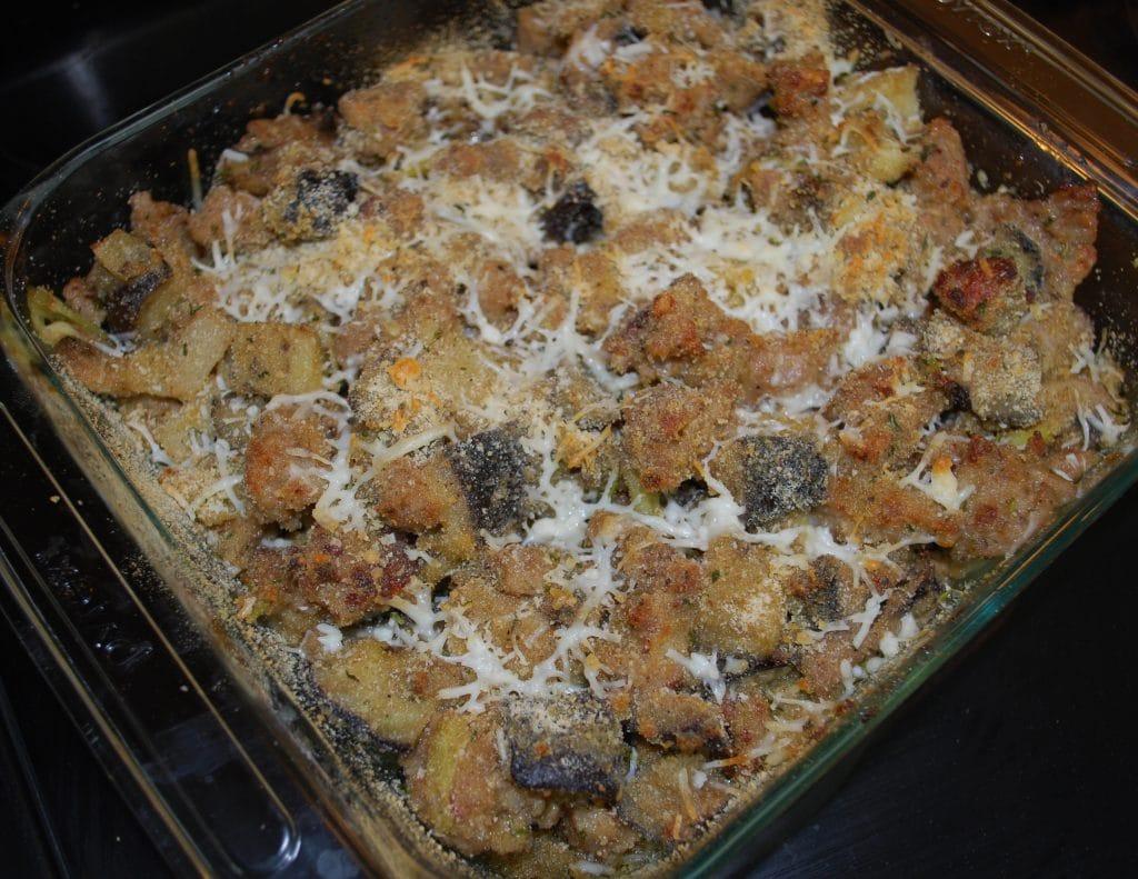 Italian Sausage & Roasted Eggplant Casserole