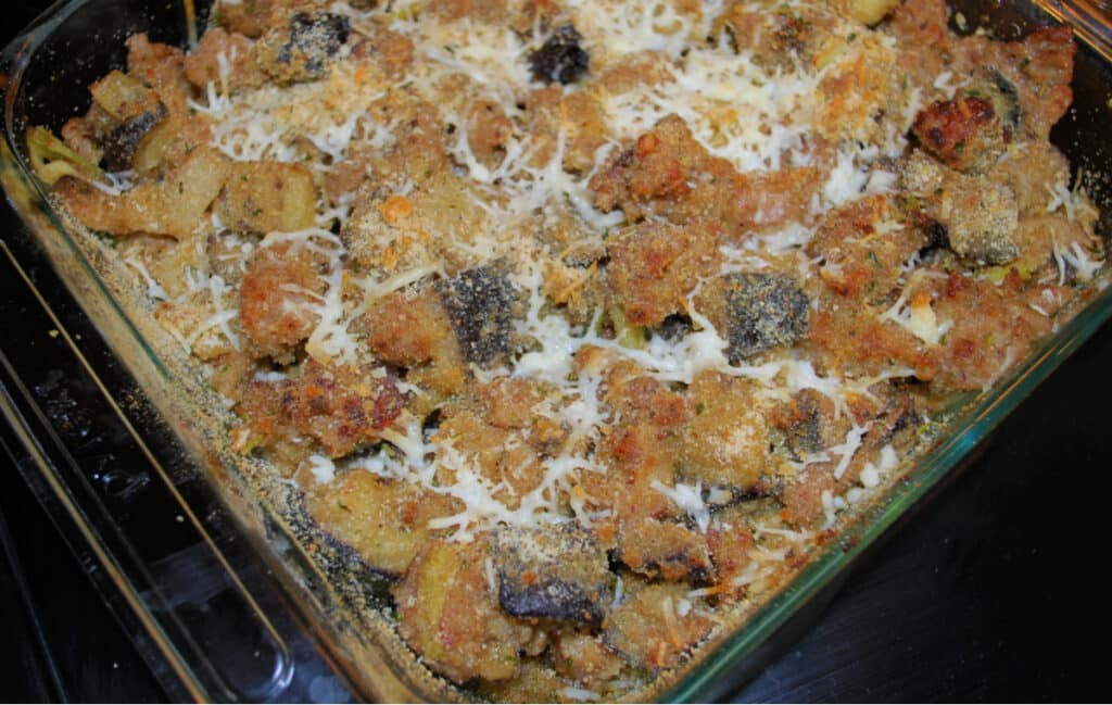 Italian Sausage and Roasted Eggplant Casserole