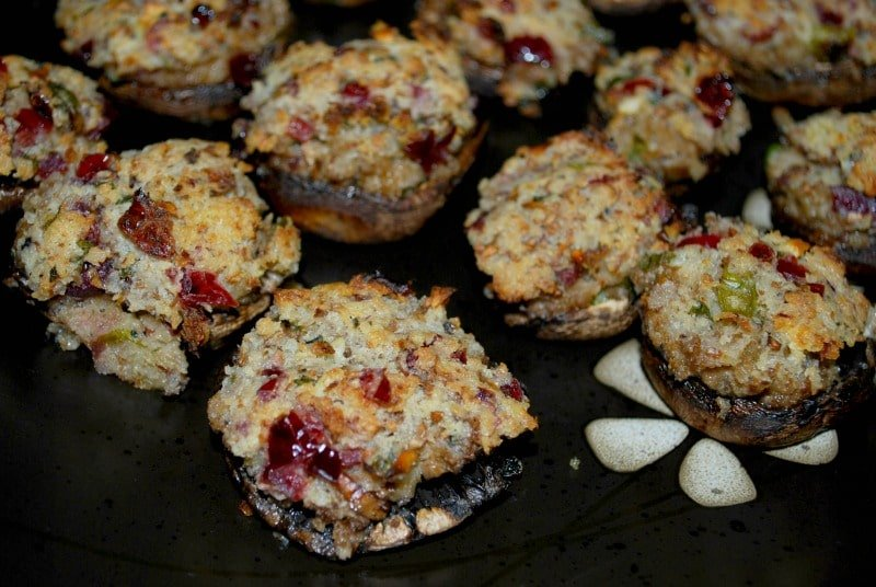 Cranberry Stuffed Portabella Mushrooms