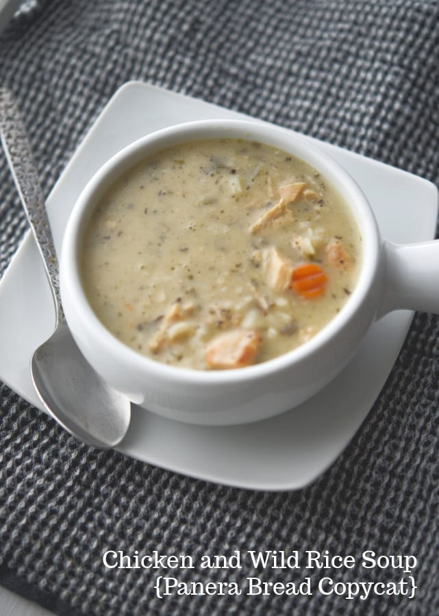 Make one of your favorite restaurant soups at home any day of the week with this version of Chicken & Wild Rice Soup; a Panera Bread copycat recipe.