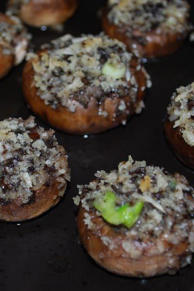 Scallion & Asiago Cheese Stuffed Mushrooms