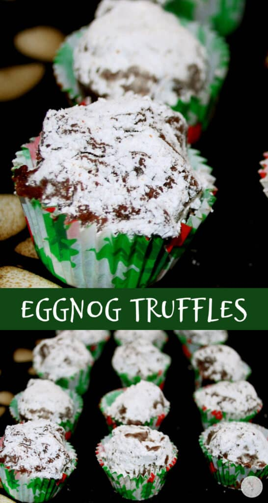 Rich, chocolatey and creamy Eggnog Truffles make a tasty holiday treat. Add them to your holiday baking list to enjoy for yourself or give as an edible gift.