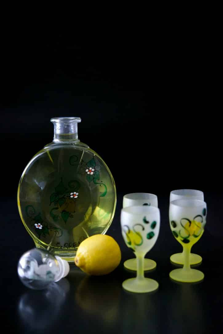 Homemade limoncello, a lemon flavored liquor, is easy to make at home; though does require a bit of resting time. It also makes a nice hostess gift during the holidays.
