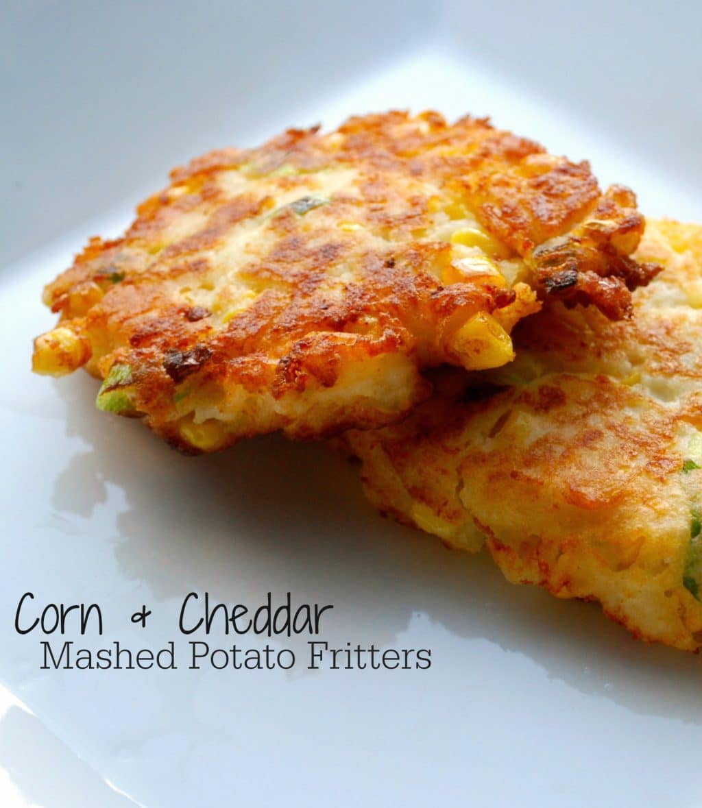 Corn & Cheddar Mashed Potato Fritters | Carrie's Experimental Kitchen...