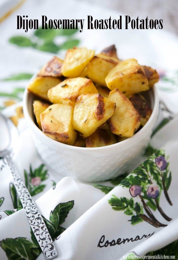Dijon Rosemary Roasted Potatoes are simple to make, yet flavorful in every way and makes a tasty side dish to any meal!