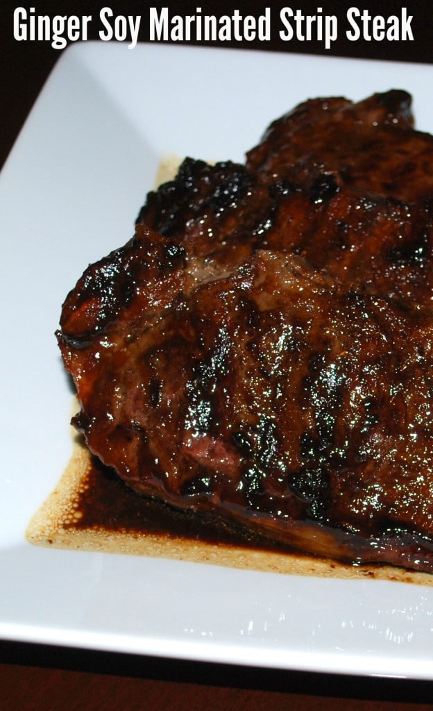 Ginger Soy Marinated Strip Steak   Carrie's Experimental Kitchen #beef