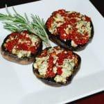 Gorgonzola and Sun Dried Tomato Stuffed Portobello Mushrooms