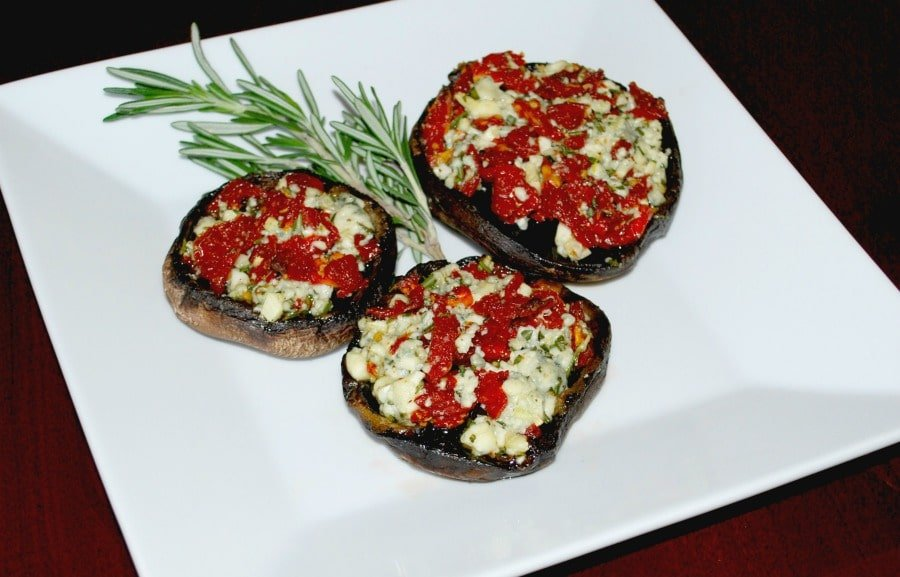 Gorgonzola and Sun Dried Tomato Stuffed Portobello Mushrooms