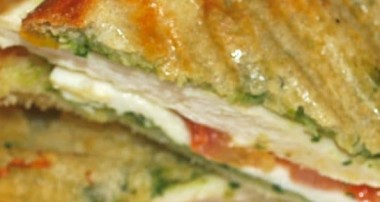 Grilled Chicken Panini with Classic Pesto