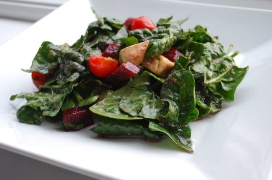 Spinach Salad with Fresh Beets