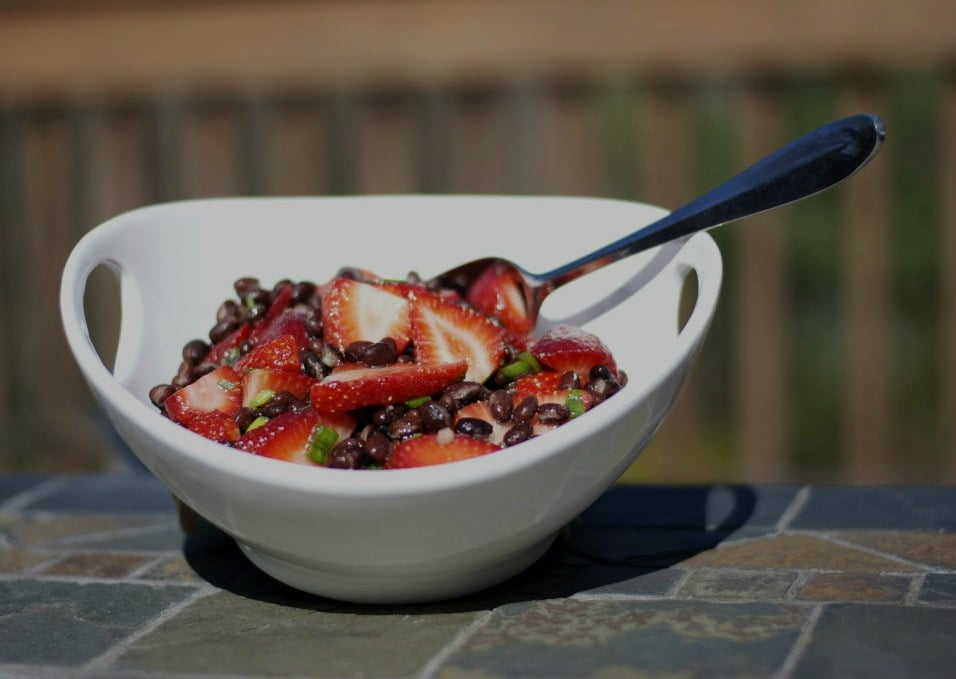 Black Bean & Strawberry Salad