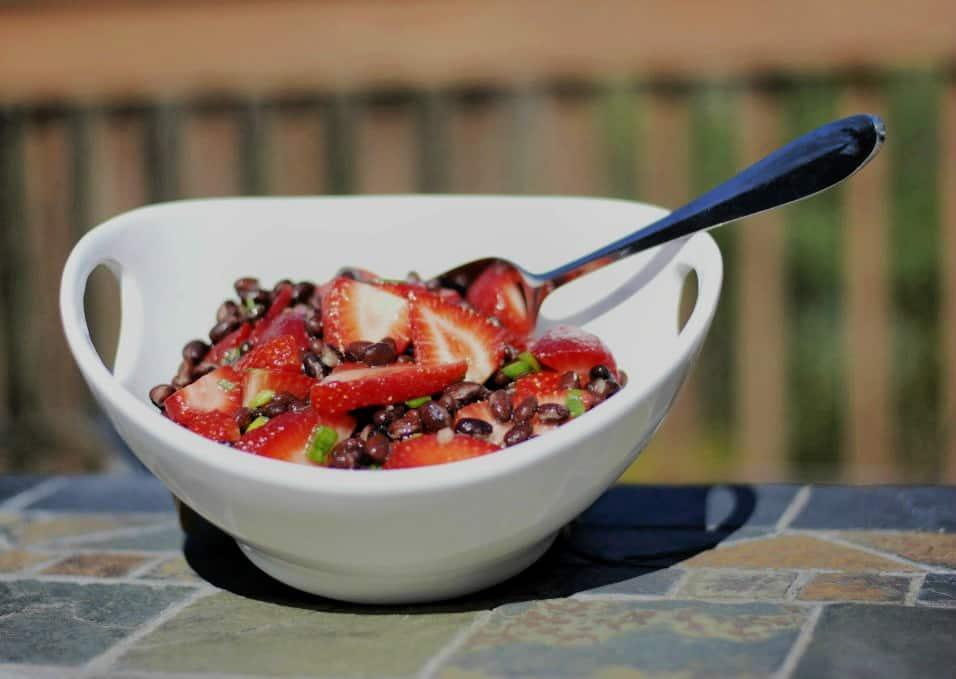 Black Bean and Strawberry Salad