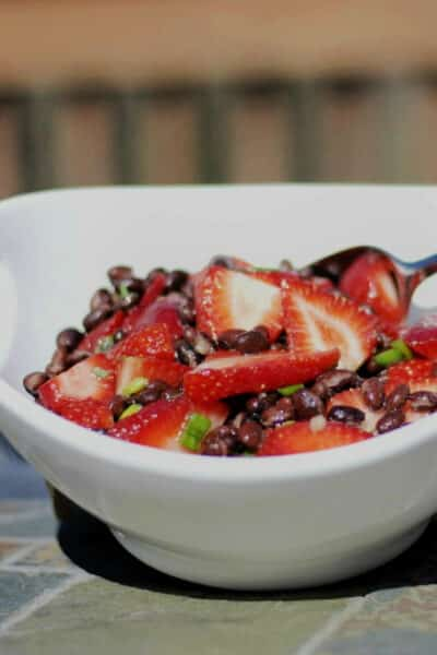 Black Bean and Strawberry Salad in a Rosemary Lime Vinaigrette