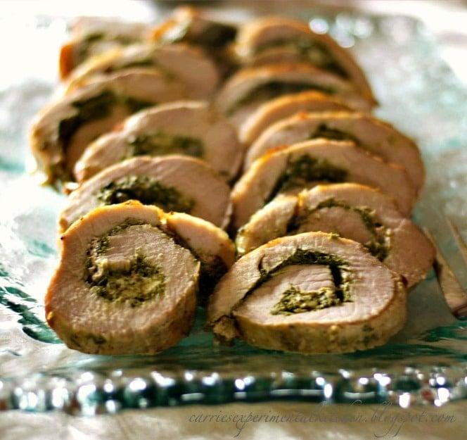 Spinach & Goat Cheese Stuffed Pork Loin