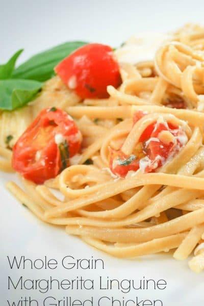 Whole Grain Linguine Margherita | CarriesExperimentalKitchen.com