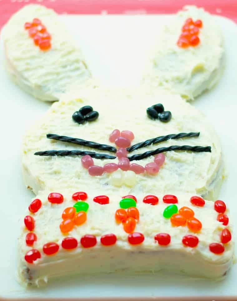 Every Year For As Long I Can Remember We Have Made A Bunny Cake Easter My Mom Always It With Either Yellow Or White Mix Topped