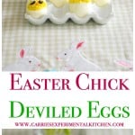 Your holiday table would not be complete without these adorably festive Easter Chick Deviled Eggs.