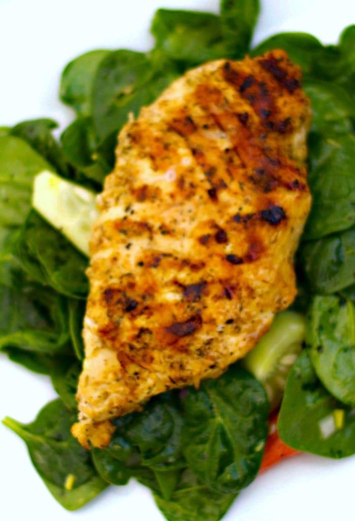 Grilled Oregano Chicken with a Lemon Poppy Vinaigrette | CarriesExperimentalKitchen.com