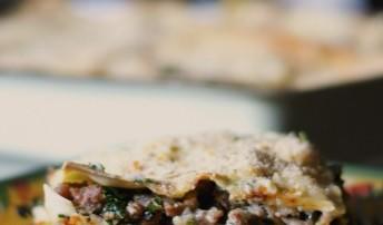 Sausage, Spinach & Mushroom Lasagna