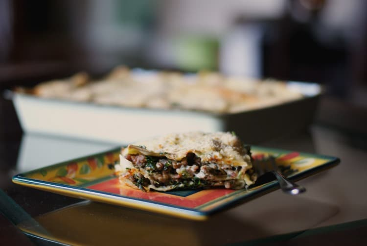Sausage, Spinach and Mushroom Lasagna with Parm Reg Cream Sauce