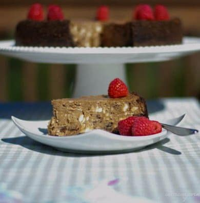 Triple Chocolate Raspberry Hazelnut Cheesecake