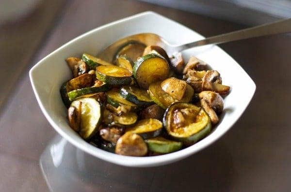 Balsamic Roasted Zucchini & Mushrooms
