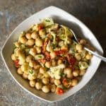 Chick Pea Salad with Artichokes and Sun Dried Tomatoes