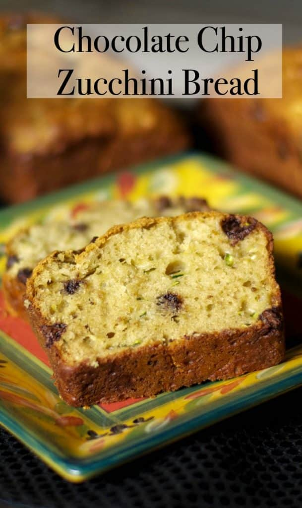 This version of Chocolate Chip Zucchini Bread is lightened up a bit ...