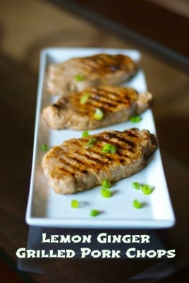Lemon-Ginger Grilled Pork Chops