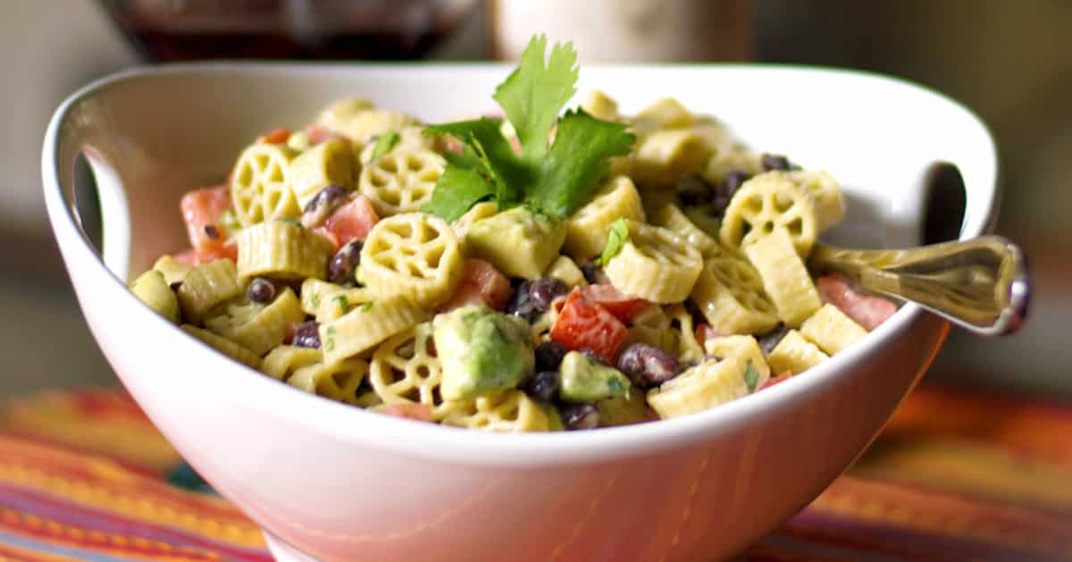 Pasta Salad with Avocado and Black Beans