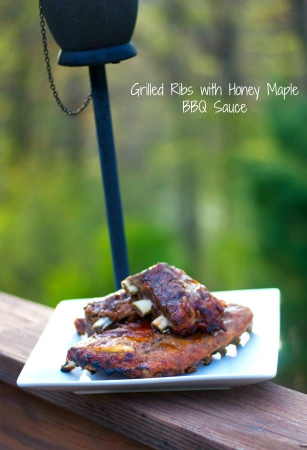 Pork ribs slowly simmered; then basted with my homemade honey maple bbq sauce. Grill them or bake them in the oven, they're tender every time!