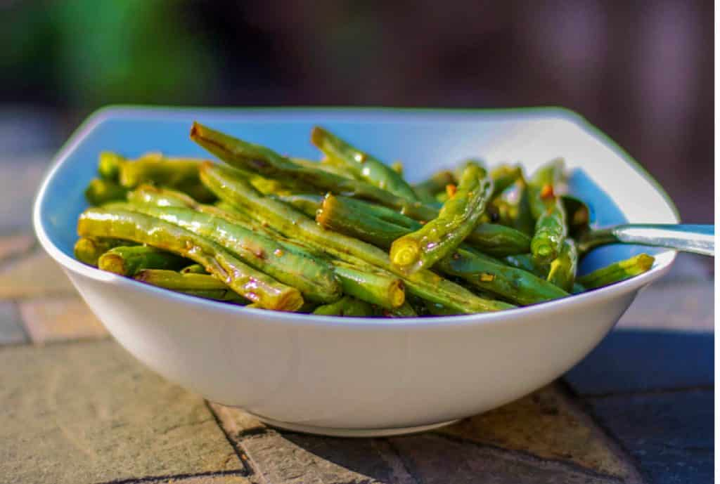 Soy Sauce Roasted Green Beans