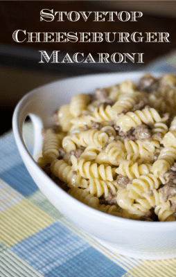 Stovetop Cheeseburger Macaroni - Carrie's Experimental Kitchen #pasta