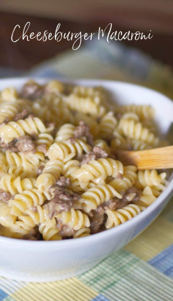 This kid approved Cheeseburger Macaroni is super simple and quick to make on top of the stove using just a few ingredients.
